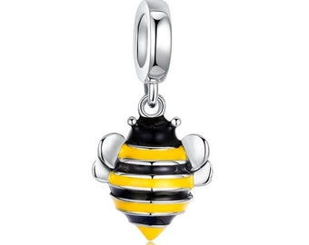 90d803daa Authentic Pandora 925 Sterling Silver Black And Yellow Enamel Bumble Bee  Baking Finish Animals