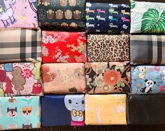 Eco Foldable Shopping Bag Hawaiian style Reusable Grocery Recycle Tote Bag Doggie Japanese style Panda Taro leaf Kitty Bunny machine