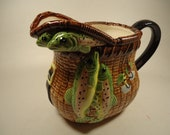 Ceramic Fishing Basket pitcher
