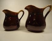Pottery pitcher creamer pitcher