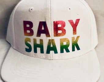 Baby shark rainbow SnapBack