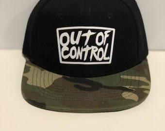 Infant-toddler out of control + camo combo snapback