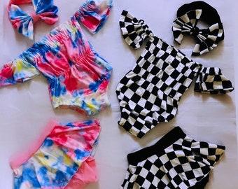 80s inspired set  for baby girls