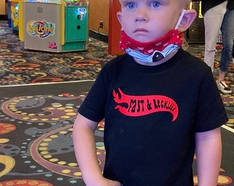 Fast & Reckless tee for babies kids and adults