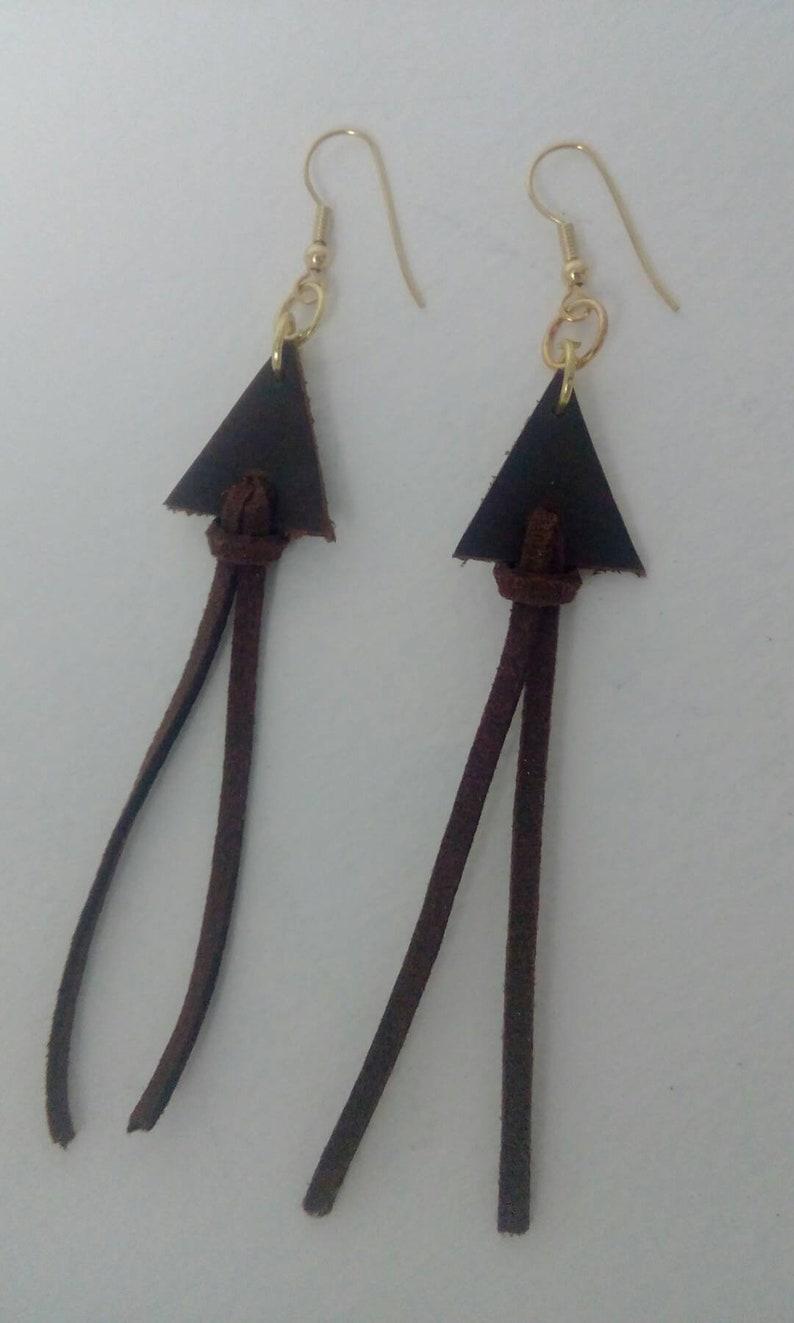 Bohemian Leather Earrings