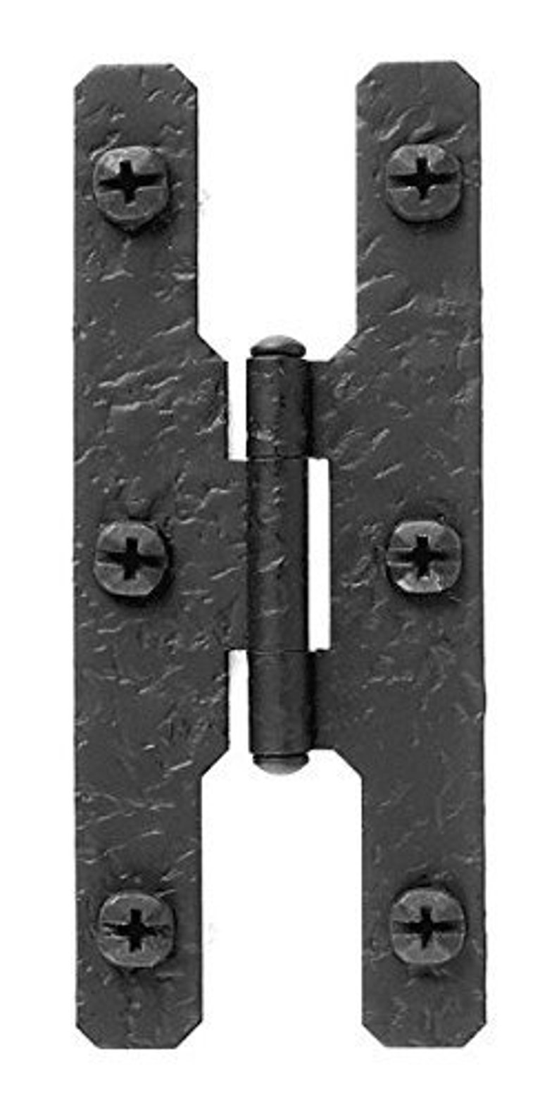 Flush Rough Iron Non-Self Closing H Style Door Hinge 7 H \u00d7 2.63 by Acorn