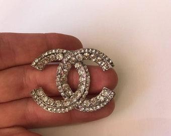 0dfac549271a Silver color brooch rhinestone rhinestone pin brooch round