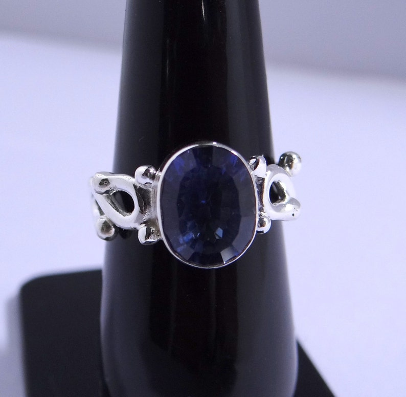 Natural Stone Ring Boho Ring NATURAL BLUE MYSTIC Ring,Hand Made Ring 925 Sterling Silver Jewelry   U.S  Ring Size -5,6,7,8,9,10,11,12