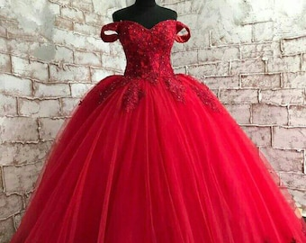 6c045d88802 Red wedding dress