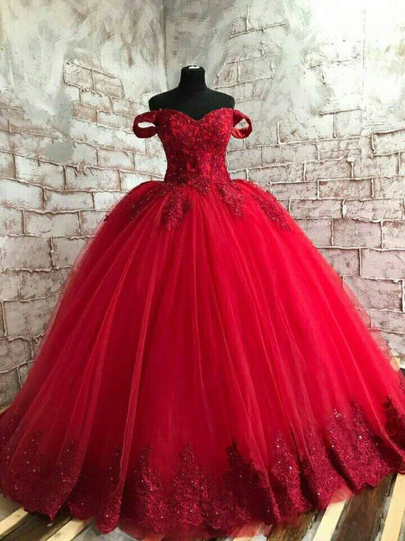 Red Wedding Dress, Gothic Wedding Dress, Red Lace Wedding Dress, Red Lace Wedding Gown, Custom Bridal Dress, Red Lace Bridal, Red Bridal