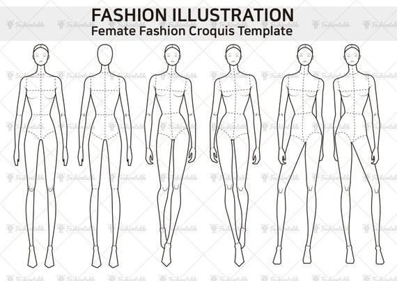 Femate Fashion Croquis Template