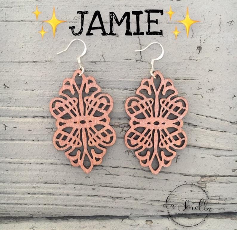 Wooden Earrings Lightweight Large Earrings JAMIE image 0