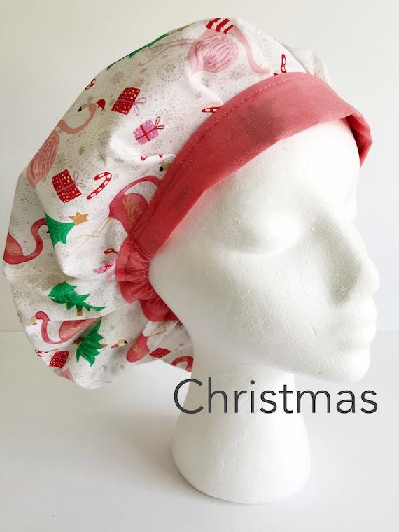 COMFY BOUFFANT Scrub Hat,CAP Festive