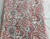 Indian handmade new kantha quilt blanket floral pattern 90x60 twin size soft touch