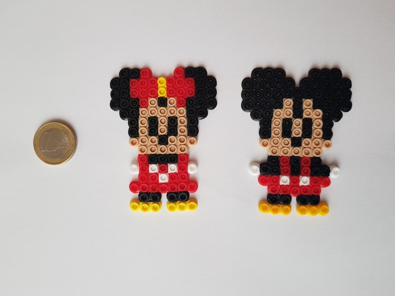 Mouse Hama Beads Perler Beads Plastic Couple Hand Made Bow