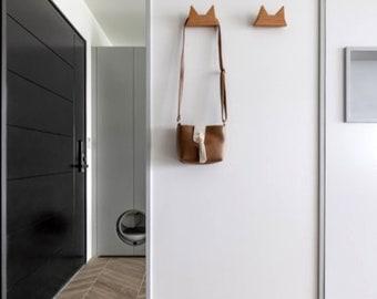 Fluffy Ear Hanger, BEECH, Wall hanger, paper weight, dog leash hanger
