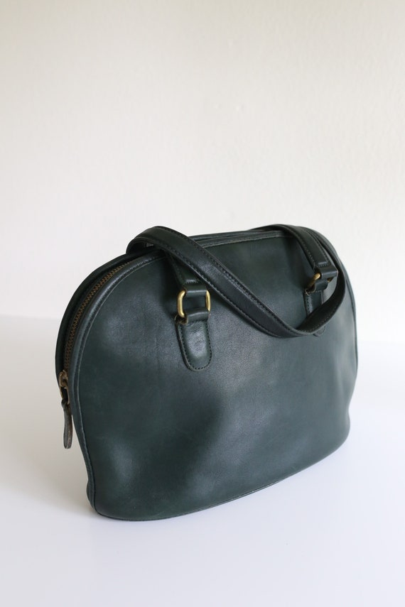 Vintage Coach Bowler Bag in Emerald Green