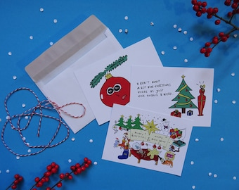 christmas cards by treintekeningen