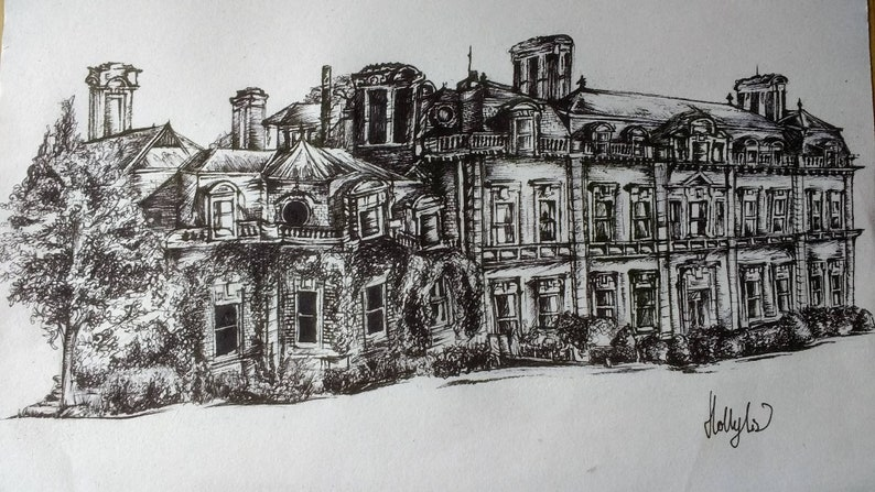 custom Pen ink sketch, house, building, architecture drawing, culture art,  sketch, street, buildings, home, moving, gift, present, wedding