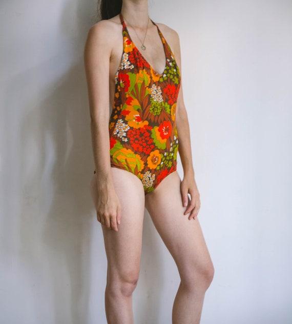 70s bathing suit, vintage body, retro swimwear, l… - image 2