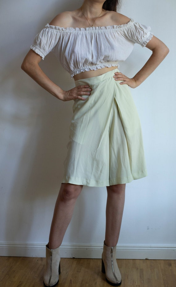 Vintage designer shorts, knee length skorts, high