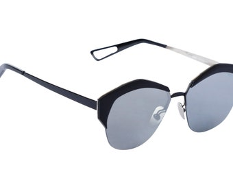f8f8bae85c Vintage Look Mens Womens Silver Mirrored Sunglasses in Classic Look