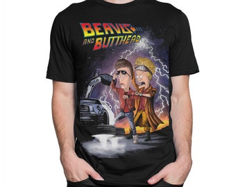 c957125858d65 Beavis and Butt-Head x Back To The Future T-Shirt