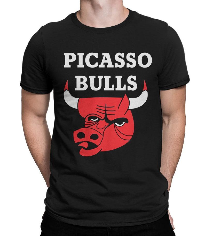 Rewelacyjny Picasso Bulls Funny T-Shirt Chicago Bulls Tee Men's | Etsy WS24