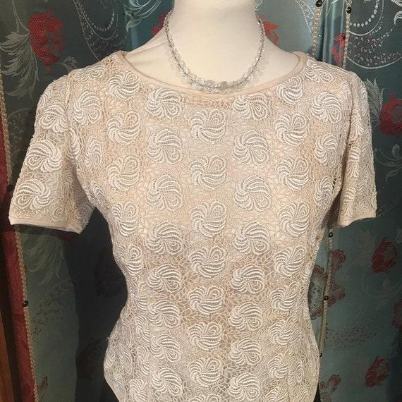 Vintage 1960's Lace Blouse