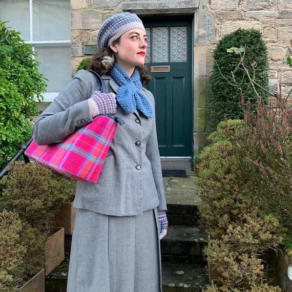Vintage 1940's Grey Wool Skirt Suit - image 2