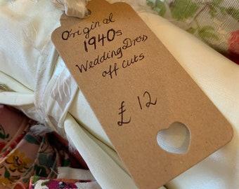 Original 1940s Wedding Dress Off-Cuts