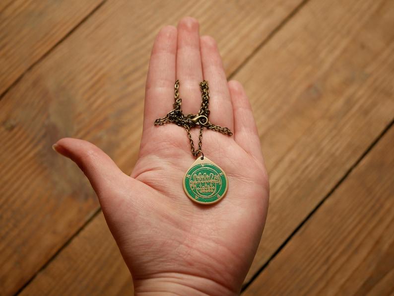 Ars Goetia seal sigil demon necklace seal of Vepar sigil pendant