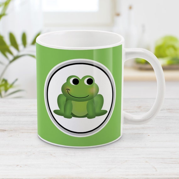 Cute Green Frog Just A Girl Who Loves Frogs Mug 11oz 15oz Ceramic Coffee Cup
