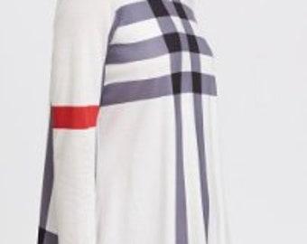 31226da8f25 Striped matrix red and blue long sleeve dress