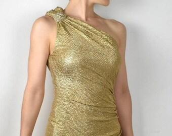 Gouden Cocktailjurk.Gold Cocktail Dress Etsy