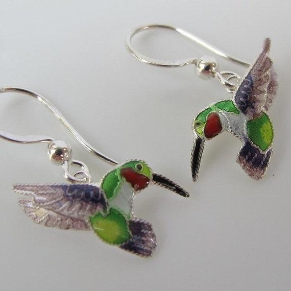 New ZARAH Enamel Jewelry STERLING SILVER Dangle Drop Earrings PENGUIN BIRD