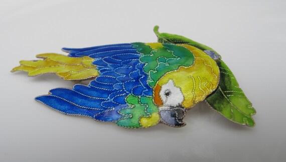 Vintage Enamel Lovebirds Parrot Brooch Pin Women Accessories Festival Gifts