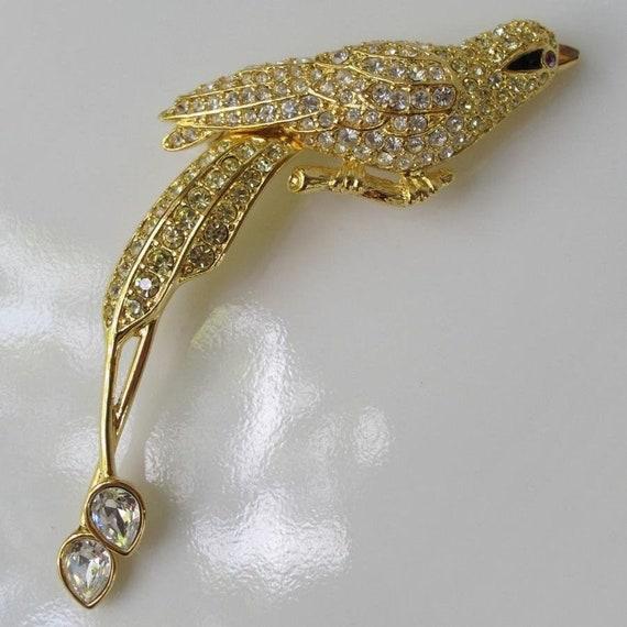 Vintage Nolan Miller Bird of Paradise Pin Brooch