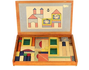 Kit large with blocks construction houses Vero 60's