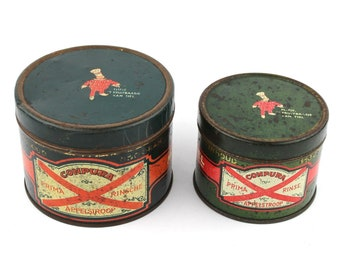 2 cans for apple syrup Flipje Tiel 50's