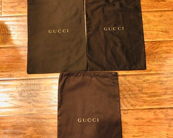 3ce78075a98652 GUCCI Drawstring Dust Bag Purse Handbag Shoes Storage Cover 11 1/2