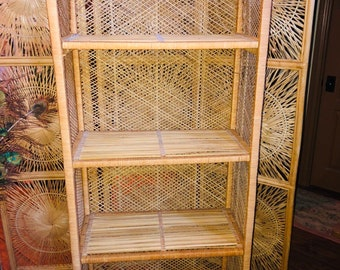 Vintage Wicker Bookshelf Local Pick Up Only