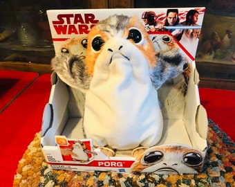 bea7c009304 Star Wars  The Last Jedi Porg Electronic Plush Disney Hasbro 2017
