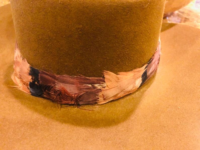 Vintage Stetson 4X Beaver Western Cowboy Hat Feathers