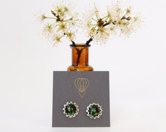 Schwarz Gold Weiß Kunst Deko 1920er Jahre Vintage Stil Ohrringe Stud-tropfen