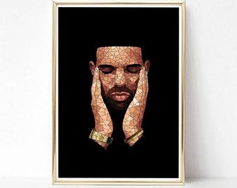 a73ab4a938c Drake Print - Large Poster - Enhanced Matte Paper Poster - Scorpion Print - Drake  Poster - Drake Merch - Drake Gift - Drake Merchandise