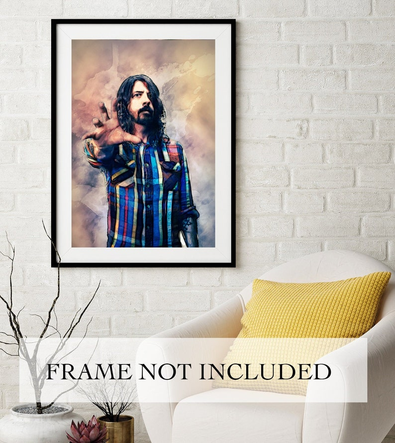 DAVE GROHL FOO FIGHTERS CANVAS PICTURE PRINT WALL ART HOME DECOR FREE DELIVERY