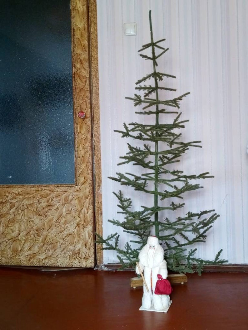 Vintage Artificial Christmas Trees.Traditional New Year S Decor Vintage Soviet Artificial Plastic Green Very Large Christmas Tree 1950 1960