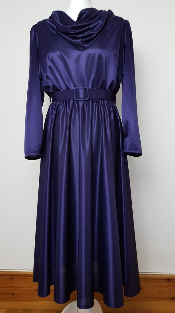 Vintage Laure of Leicester purple glossy draped co