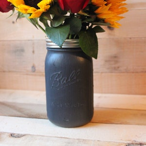 Light blue rustic mason jar vase glass vase mason jar centerpiece farmhouse rustic decor gift for her flower vase